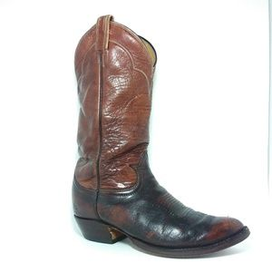 Tony Lama Brown Leather Men Western Boots Sz7.5D